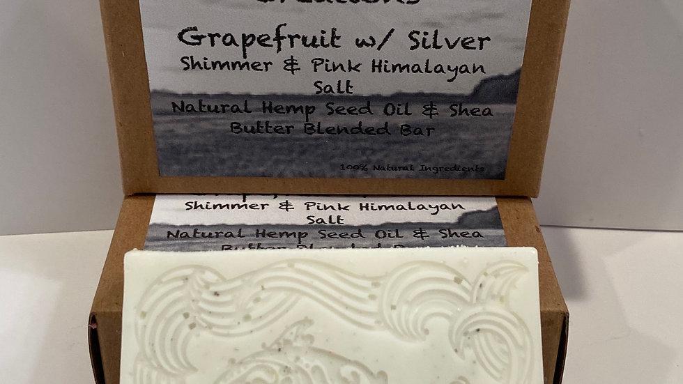 Grapefruit w/ Silver Shimmer & Pink Himalayan Salt - Blended