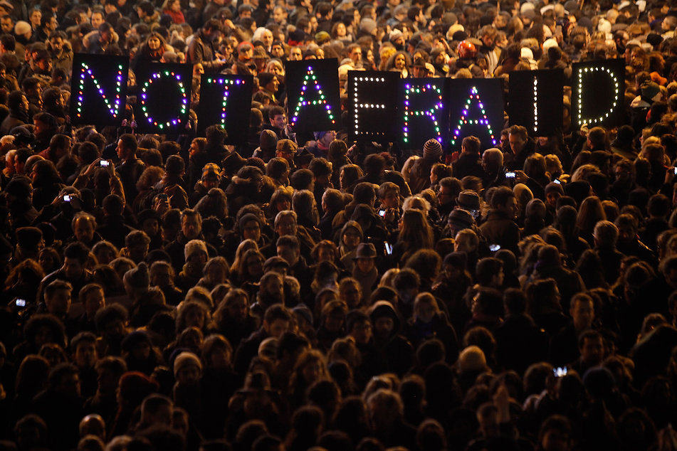 not afriad people gathering.jpg