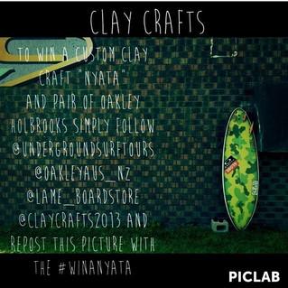 """Free CLAY CRAFTS """"NYATA"""" Surfboard"""