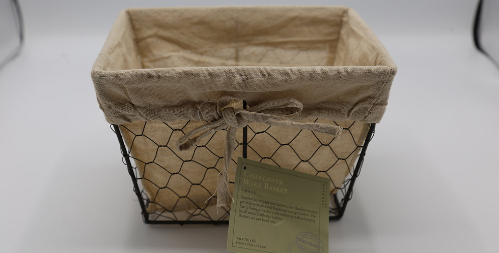 Wire Lined Charlotte Basket