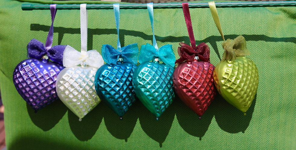 Beautiful Glass Hearts
