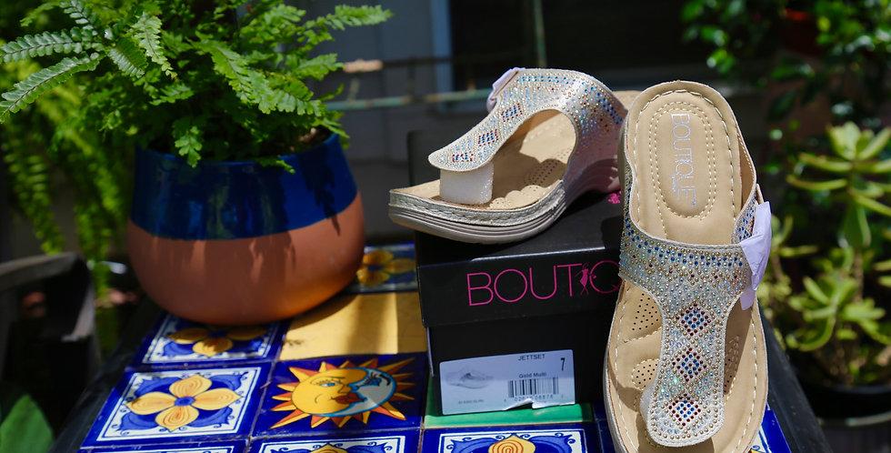 "Boutique by Corkys ""Jettset"" Sandal Size 7"