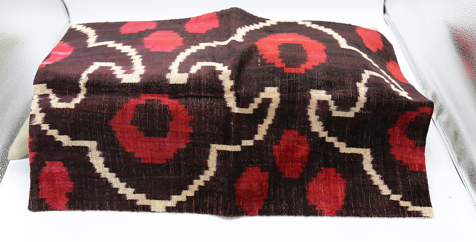 Brown, Red and White Pillow Cover