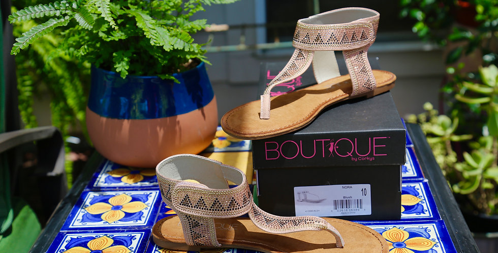 "Boutique by Corkys ""Nora"" Sandal Size 10"