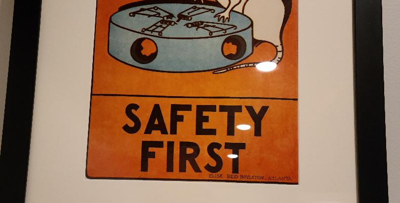 """Safety First"" Framed Poster by Elise Reid Boylston"