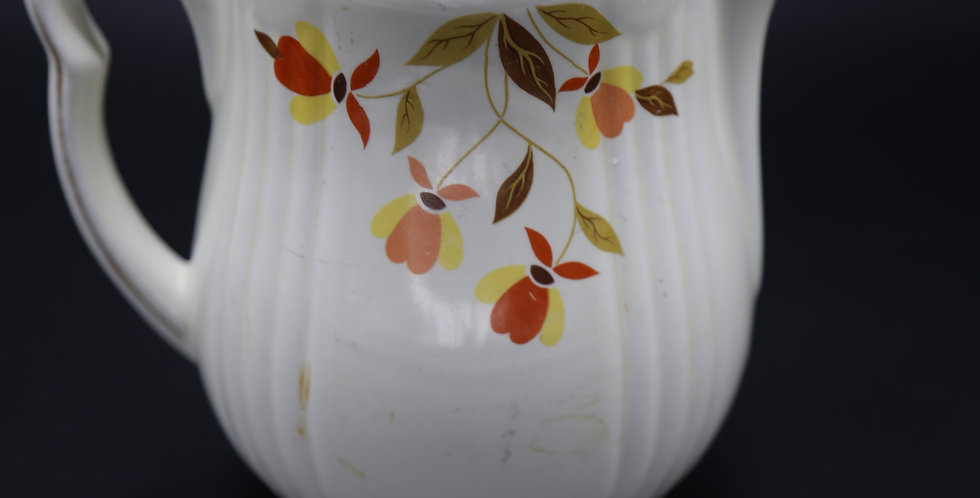 Vintage Hall Superior Jewel Tea; Pitcher Juice; Milk/Water;  Autumn Leaf