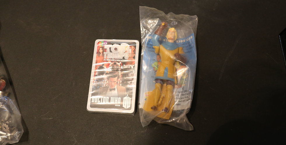 Dr. Who Playing Cards; Burger King Figurine from Hunchback of Notre Dame