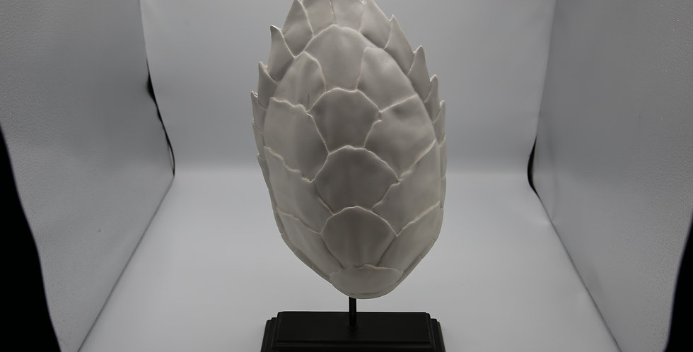 Bahari White Shell Ceramics on Stands