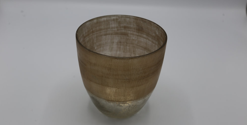 Mercury Glass Vase with Gold 5.5""