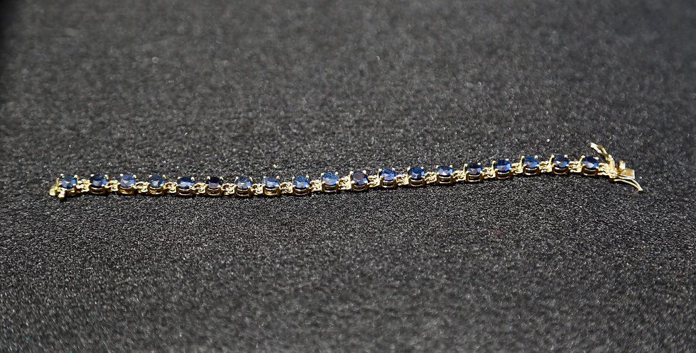 Sapphire Bracelet, 7 inch
