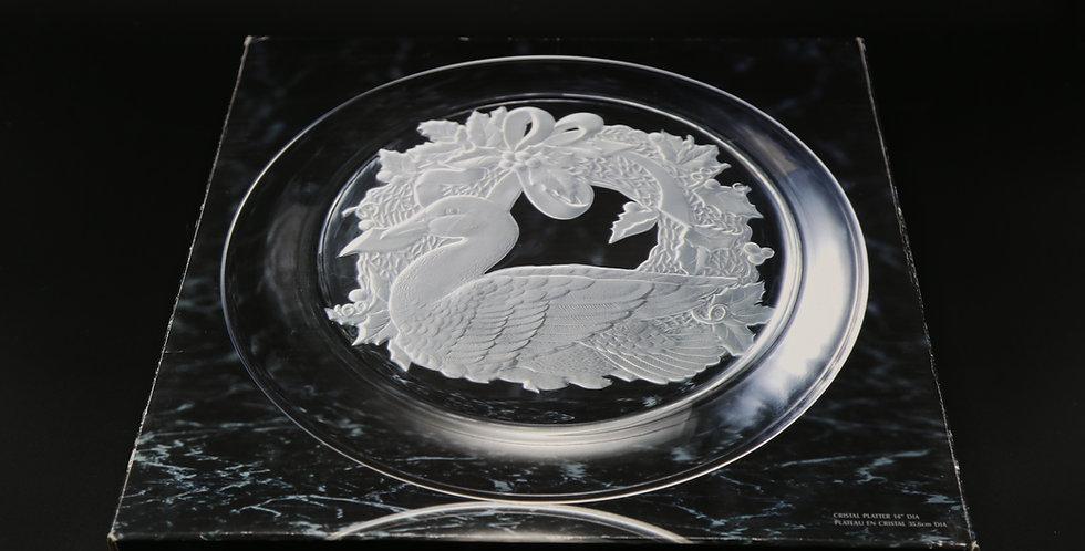 "Toscany Swan Platter 14"""