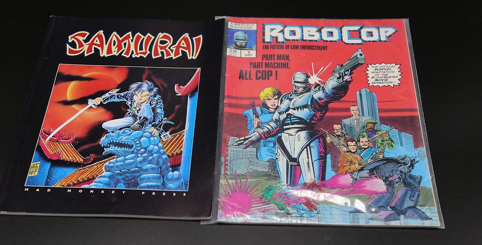 Samurai and Robocop Comic Magazines