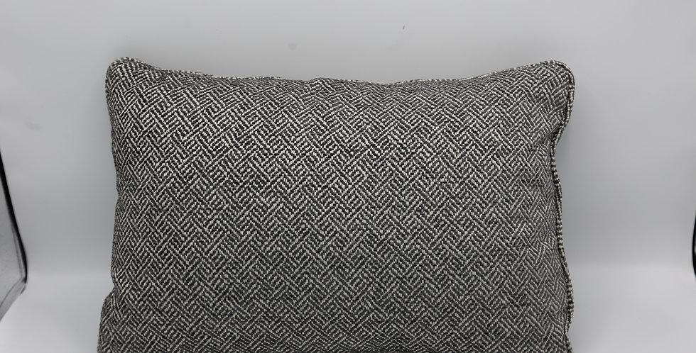 Small Black Tweed Lumbar
