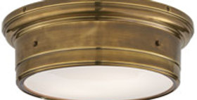 Flush Mount Hand-Rubbed Antique Brass Light