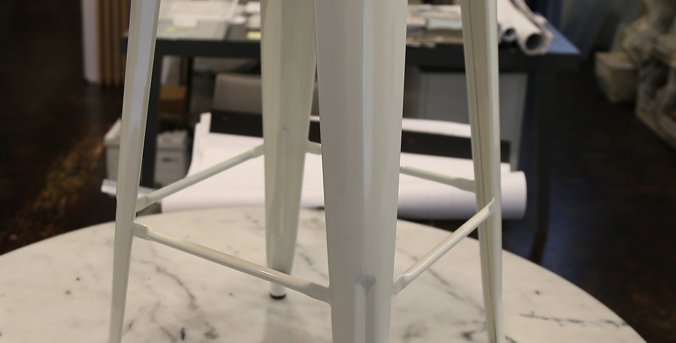 Metal White Stools