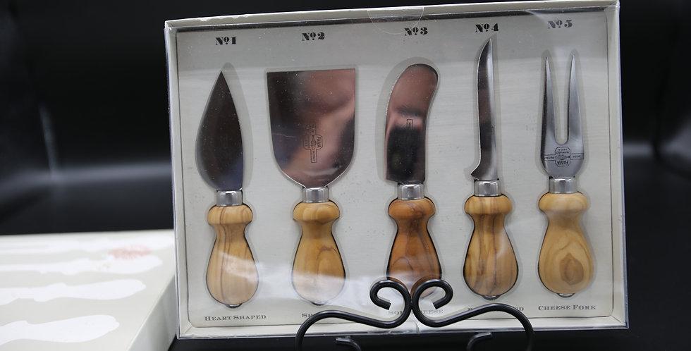 Antonini Olivewood Cheese Knives Set