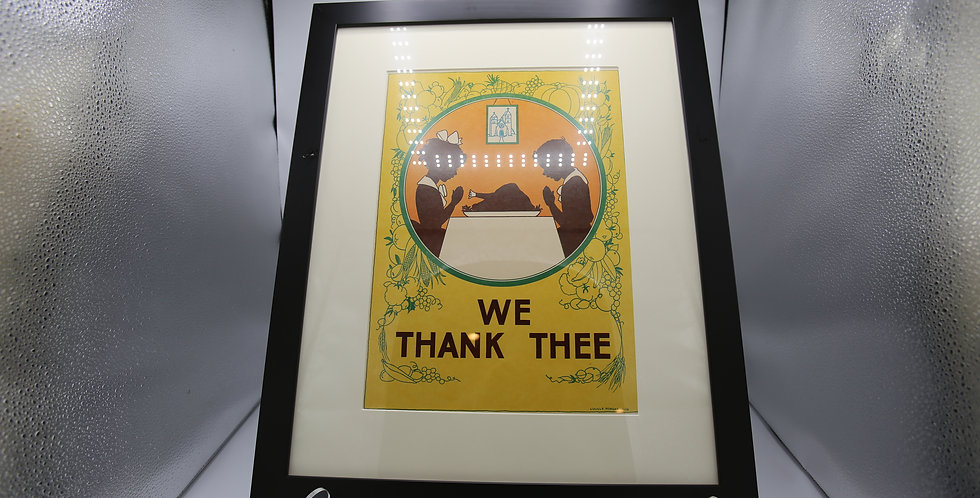 """We Thank Thee"" Framed Poster by Lucille Morgan Ison"