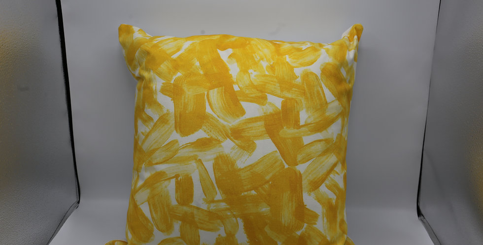 Dwell Studios Yellow & White Abstract Pillow