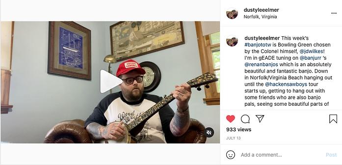 Dusty Lee Elmer, renan banjos