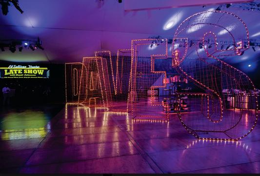 Custom Aluminum 3D Letters 'Dave' for Mark Twain Prize