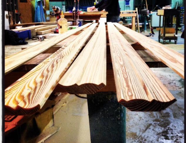 Reclaimed Heart Pine Millwork