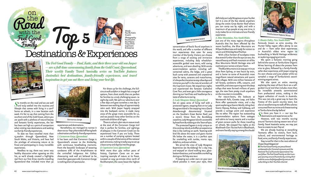 Australian Silo Art Trail, Carnarvon Gorge, Lady Musgrave Island, Blue Mountains, Tamburlaine Organic Wines