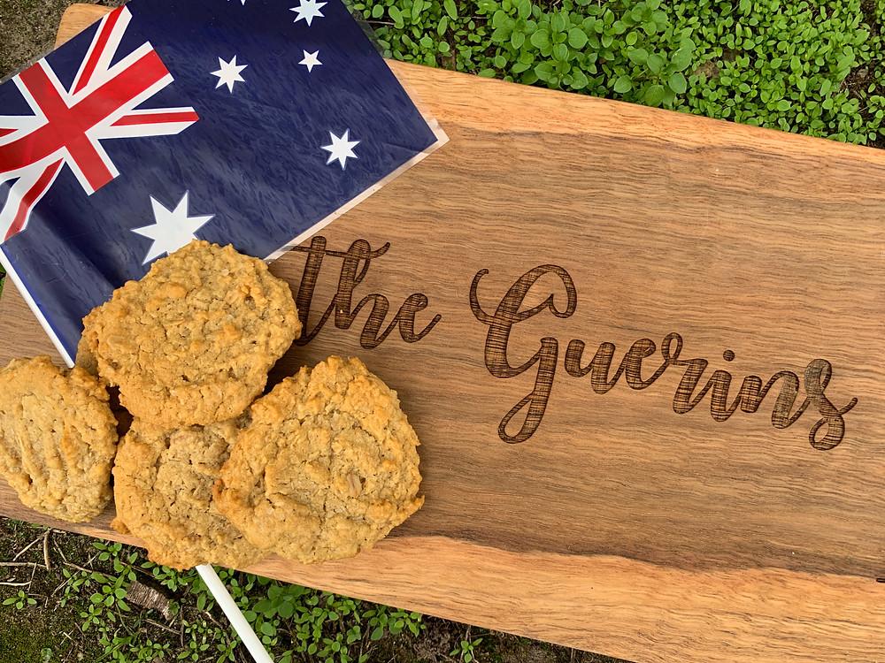 Anzac biscuit Australian flag