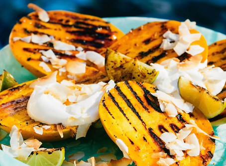 Yummer Summer Grilled Mango Cheeks