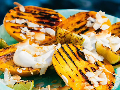 Yummer Summer Grilled Mango Cheeks