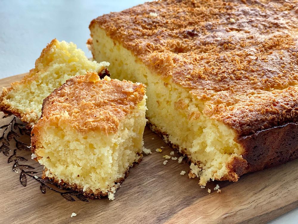 lemon lime coconut slice cake