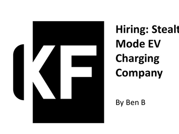 Hiring: Stealth Mode EV Charging Company