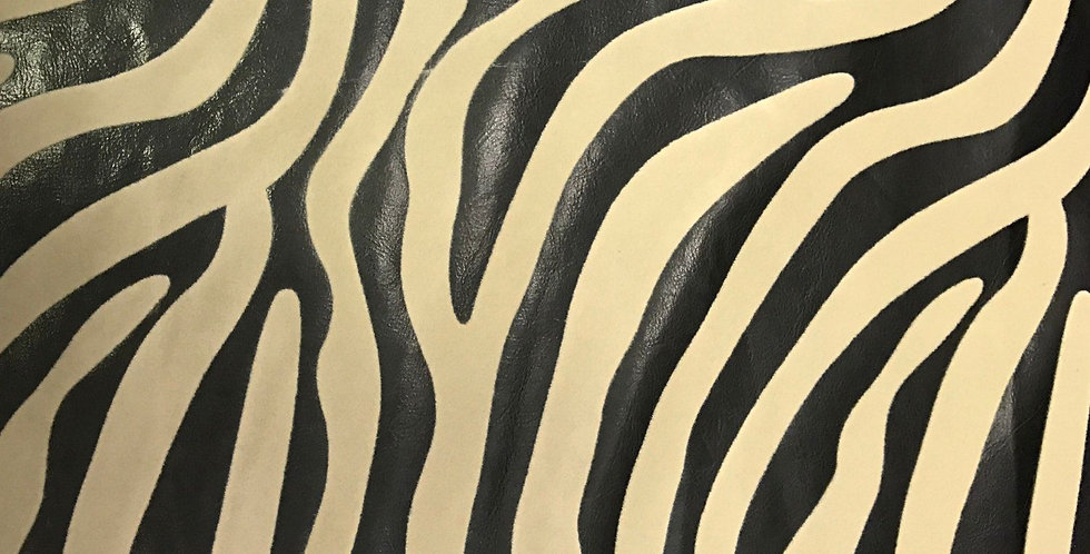 Zebra Congo - Black & Taupe Faux Leather
