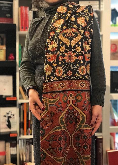 Châle foulard Tapis Persan Slimi et Simorgh