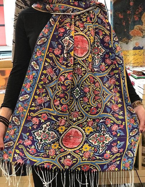 Châle foulard Céramique Gol o Boteh