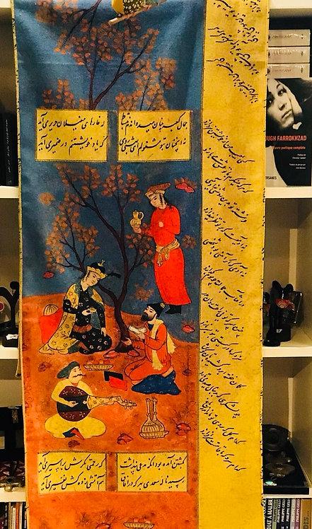 Châle foulard Ghazals de Saadi