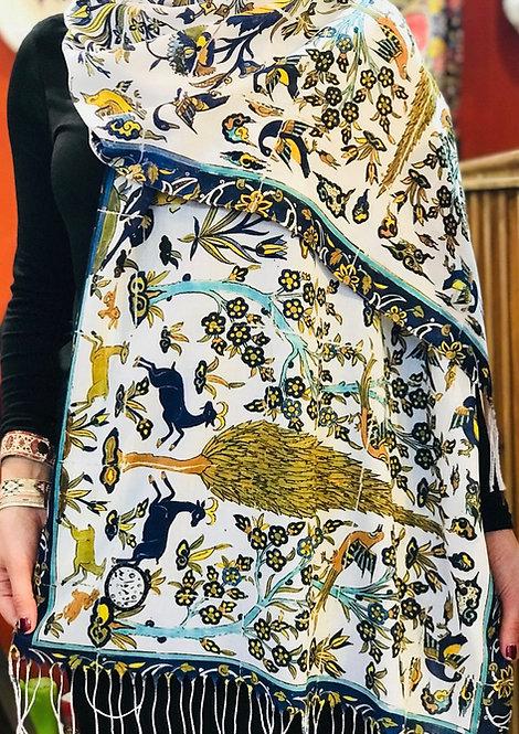 Châle foulard Céramique Jardin persan