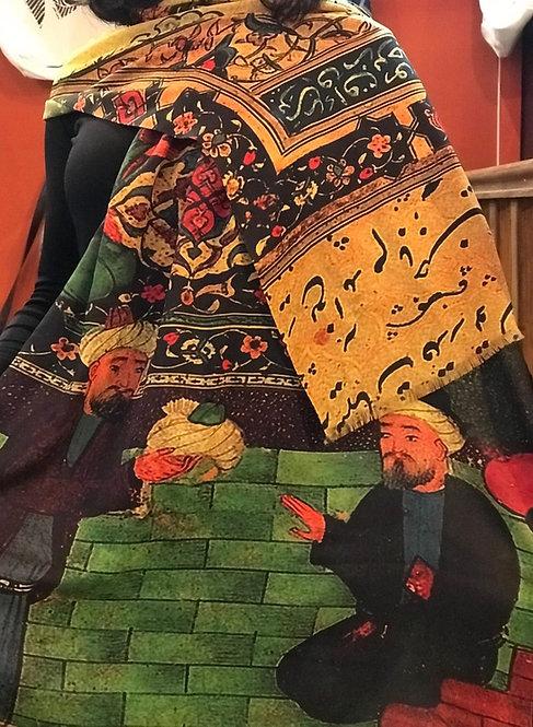 Châle foulard Jardins de fruits de Saadi