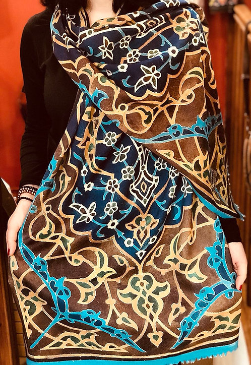 Châle foulard Céramique coupole bleue