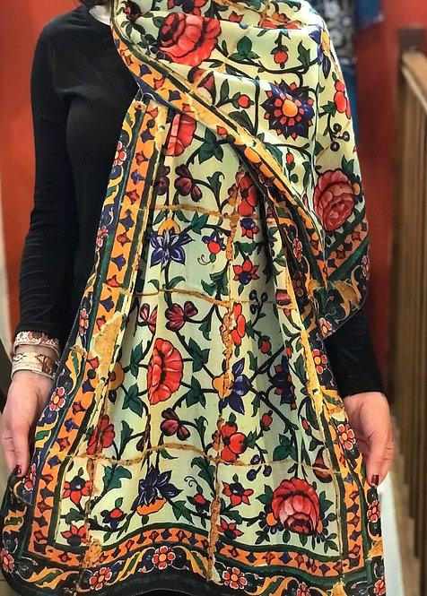 Châle foulard Céramique aux sept couleurs