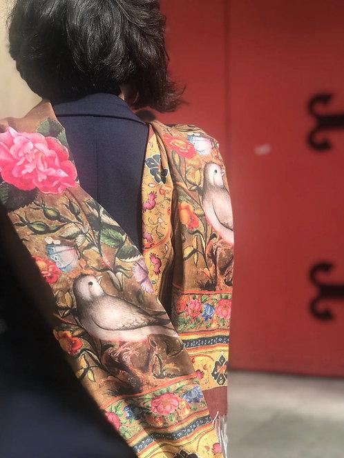 Châle foulard Gol o Morgh (Fleur et Oiseau) soie