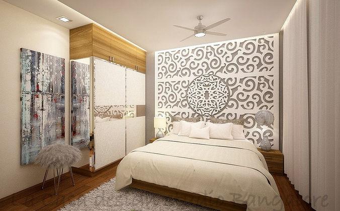 White Contemporary moroccan bedroom