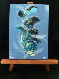 Untitled Blue - on easel