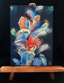 Untitled Ultramarine - on easel