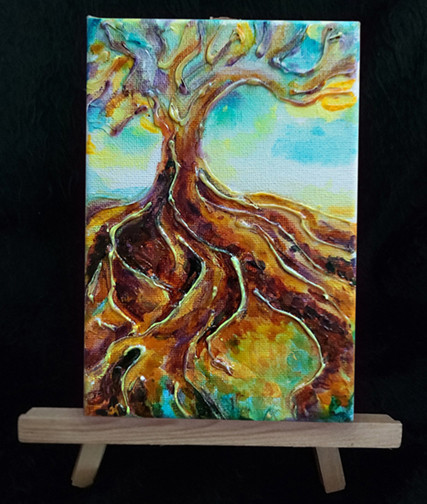 Roots - on easel