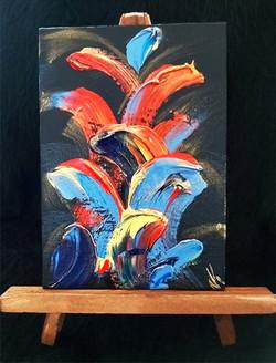 Untitled Black - on easel