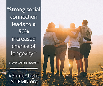 """""""Strong social connection leads to a 50%"""