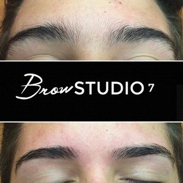Before and After Eyebrow Transformation