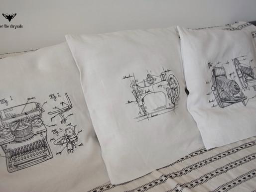 les housses de coussins gravures