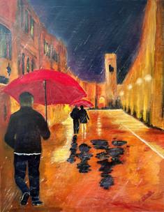 Rain on Stradun