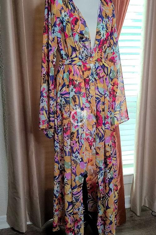 Print KaftanCover Up Maxi Dress